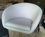 Кресло Мурат НЬЮ экокожа белая поворотное газлифт СДМ группа (бесплатная доставка), фото 3