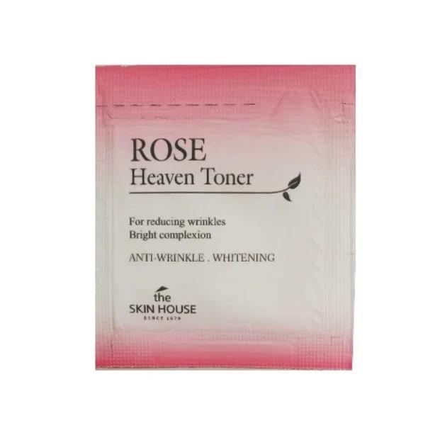 Пробник омолаживающий тонер с экстрактом розы The Skin House Rose Heaven Toner