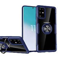 TPU+PC чехол Deen CrystalRing под магнитный держатель для Samsung Galaxy S11