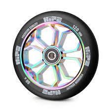 Колесо для трюкового самоката HIPE LMT36 120мм Neo Chrome, 88PU/Alu, ABEC-9
