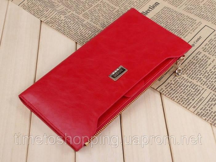 Женский кошелек - клатч Красный. Жіночий гаманець Bogesi