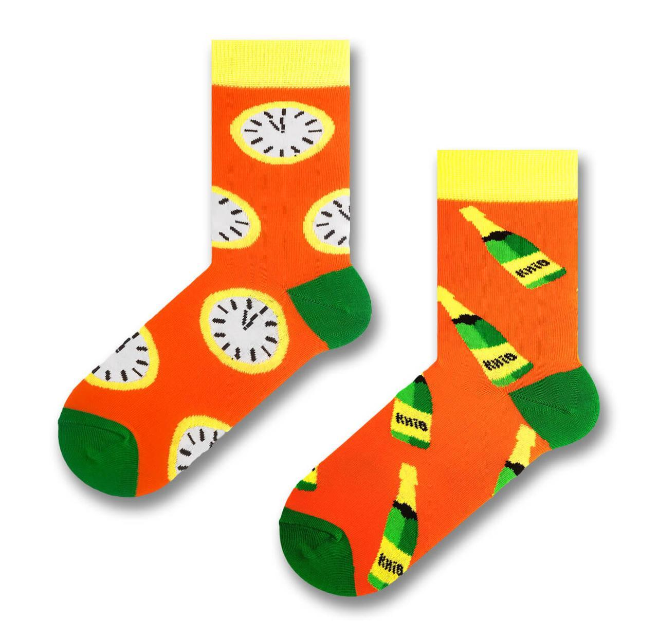 """Разнопарные носки в новогоднем стиле """"Shampusik"""""""