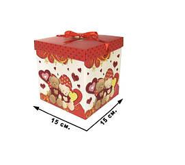 Коробка подарункова CEL-142-2M в пак.,/15*15см