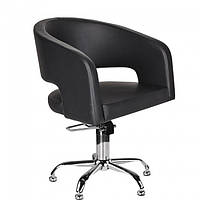 Чорное кресло парикмахера на пневматике ZOE AM012