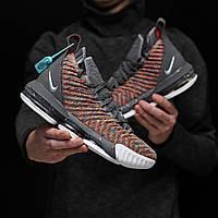 Мужские кроссовки Nike Lebron 16 Fresh Bred, Реплика ААА+, фото 1