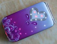 W666 женский flip телефон со стразами*2SIM