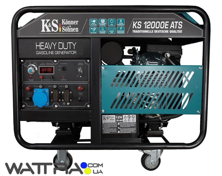 ⭐ Генератор бензиновий (11 кВт) Konner&Sohnen KS 12000E ATS