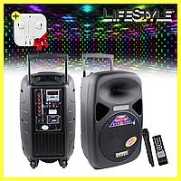 Музыкальная колонка чемодан А85 с пультом и микрофоном + Подарунок! Наушники, фото 1