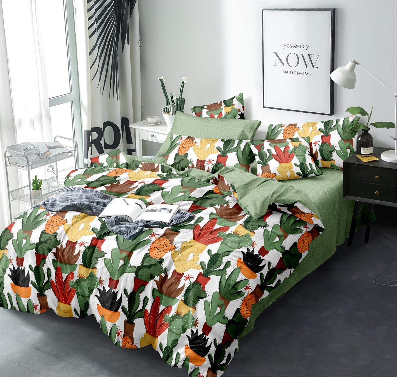 Двуспальный комплект постельного белья 180*220 сатин (13590) TM КРИСПОЛ Украина