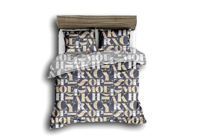 Двуспальный комплект постельного белья евро 200*220 сатин (13599) TM КРИСПОЛ Украина, фото 2