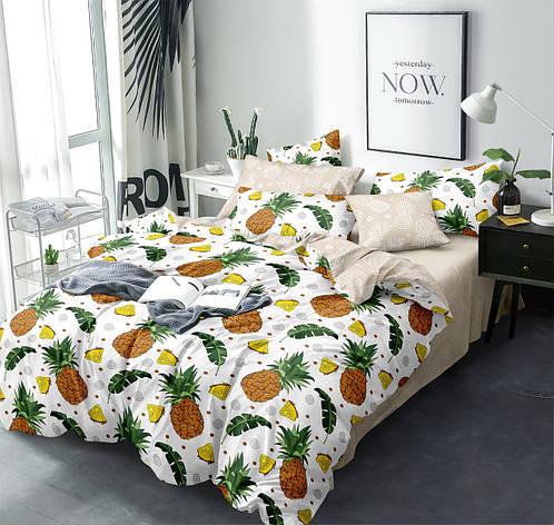 Полуторный комплект постельного белья 150*220 сатин (13587) TM КРИСПОЛ Украина, фото 2