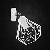 Настенный светильник / бра лофт / потолочная лампа / на одну лампу / индустриальный стиль / SKRAB/LS-W белый