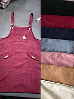 Разные цвета Вельветовое платье С карманами Женский вельвет сарафан