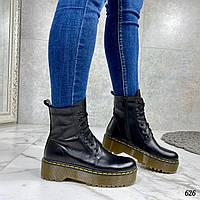 Женские ботинки ДЕМИ черные натуральная кожа, фото 1