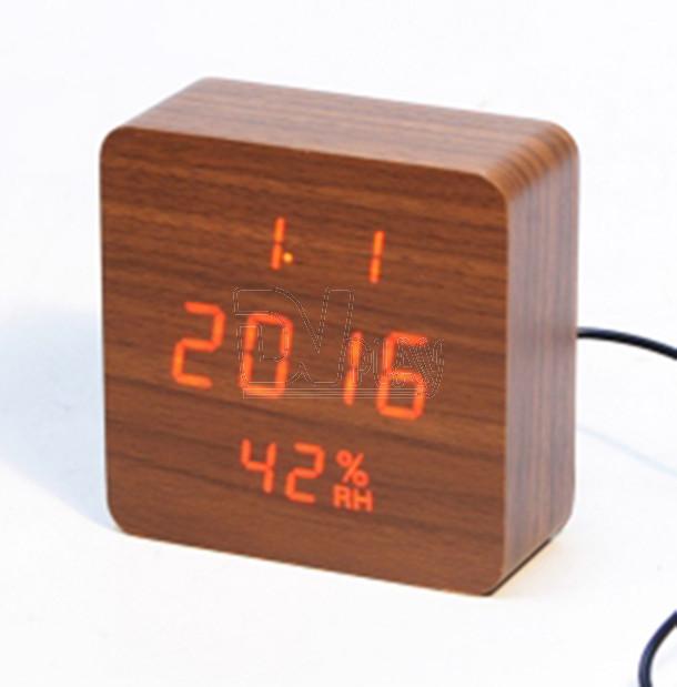 Годинники настільні електронні під дерево VST-872