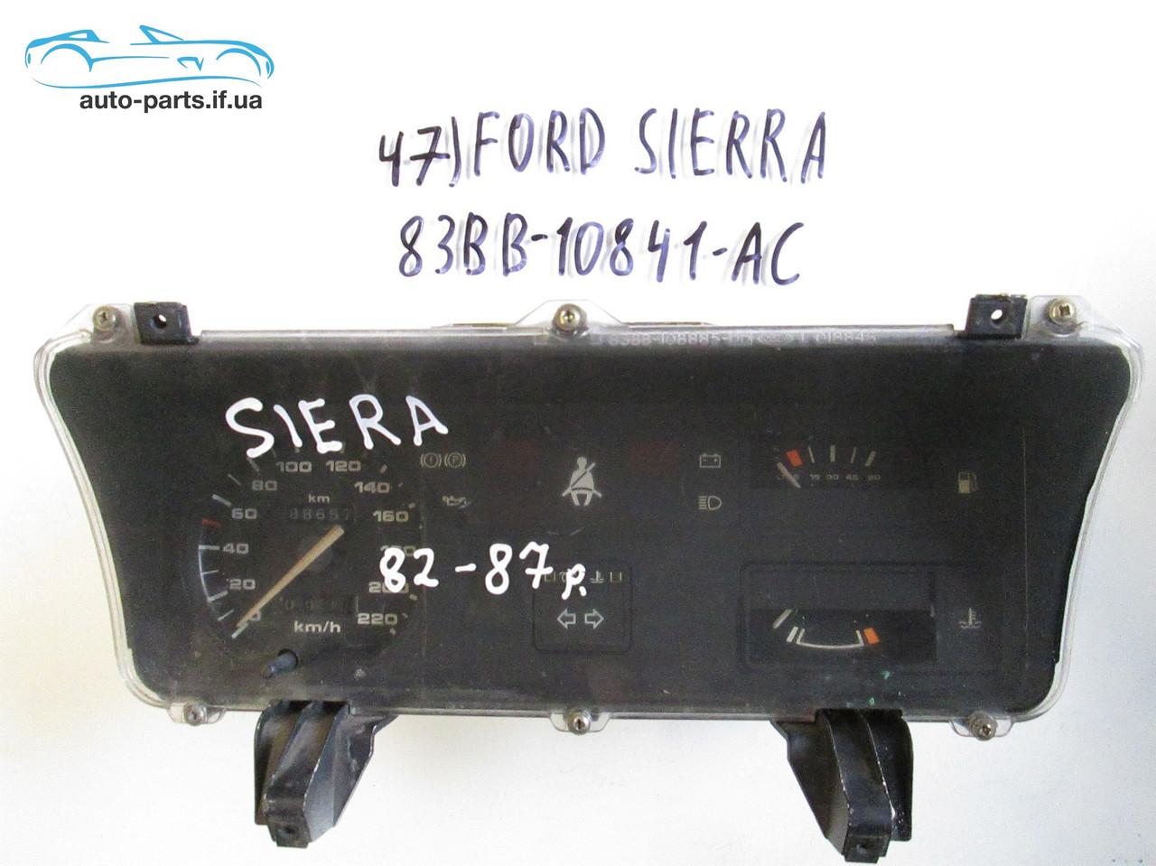 Панель приборов Ford Sierra №47, 83BB10841AC