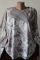 Женская кофта с цветочками, фото 1