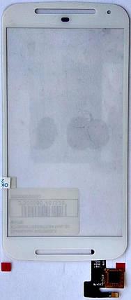 Сенсор (тачскрін) для Motorola XT1062/XT1063/XT1064 Moto G2 білий, фото 2
