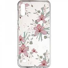 Чехол накладка силиконовый Diamond Younicou New для Samsung A805 A80 Orchid