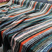 Ткань штапель принт разноцветная полоска, фото 2