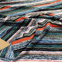 Ткань штапель принт разноцветная полоска, фото 3