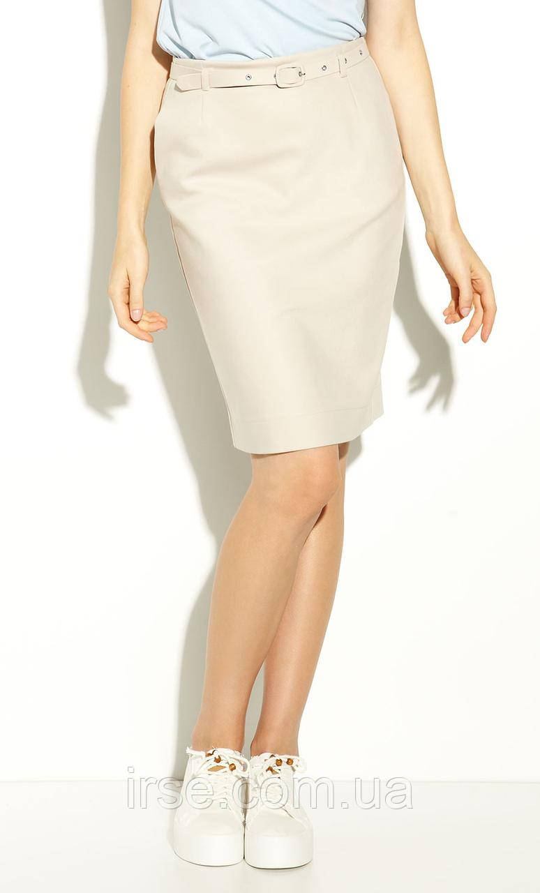 Летняя женская юбка-карандаш бежевого цвета. Модель Akati Zaps коллекция весна-лето 2020.