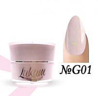 Glitter Rubber Base Lukum Nails G01 5 ml