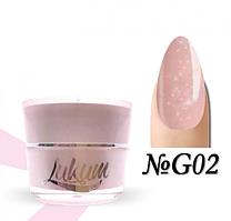 Glitter Rubber Base Lukum Nails G02 5 ml
