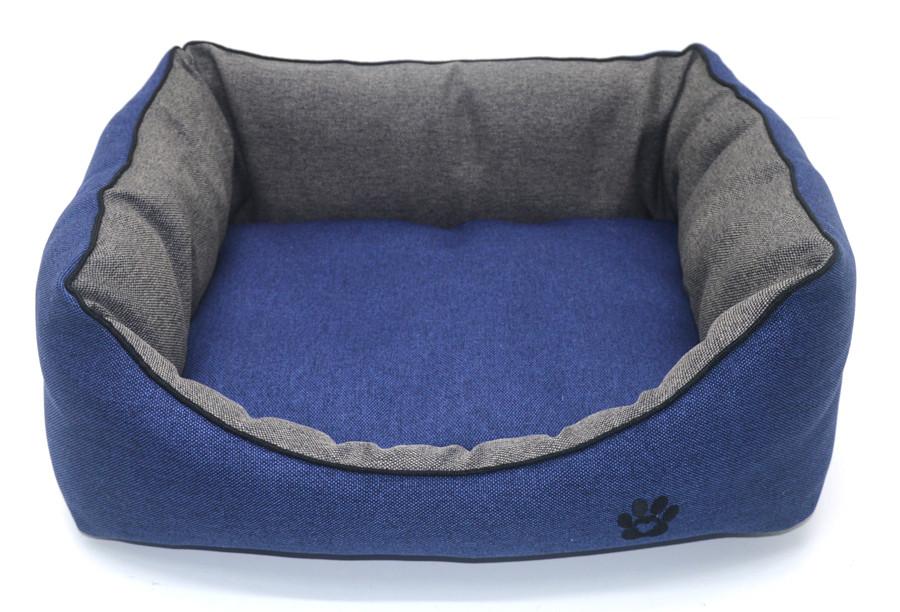 Лежак для собак и котов Loft №4 60х80х22,5 см синий