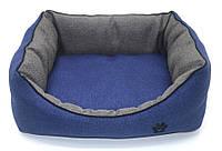 Лежак для собак и котов Loft №4 60х80х22,5 см синий, фото 1