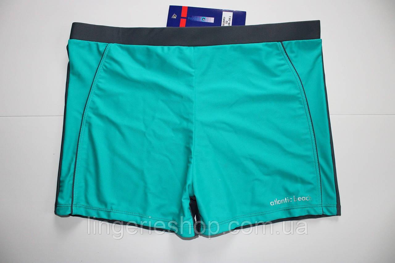 Плавки-шорты мужские Atlantic бирюза с серым