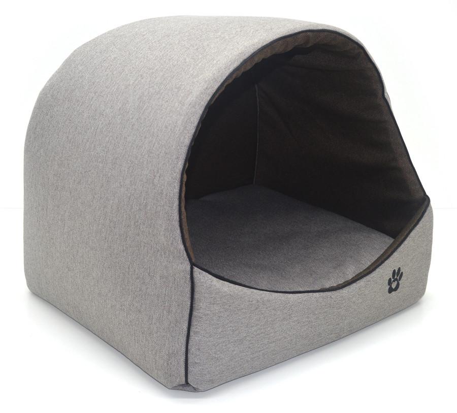 Будка для котов и собак Loft №2 42,5х37,5х37,5 см бежевая