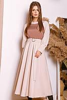 Женское яркое и нарядное платье с контрастным верхом т.м. Амбре AM1754, фото 1