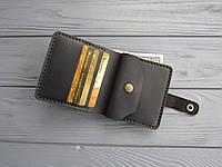 Маленький кожаный карманный кошелек Lana_ черный
