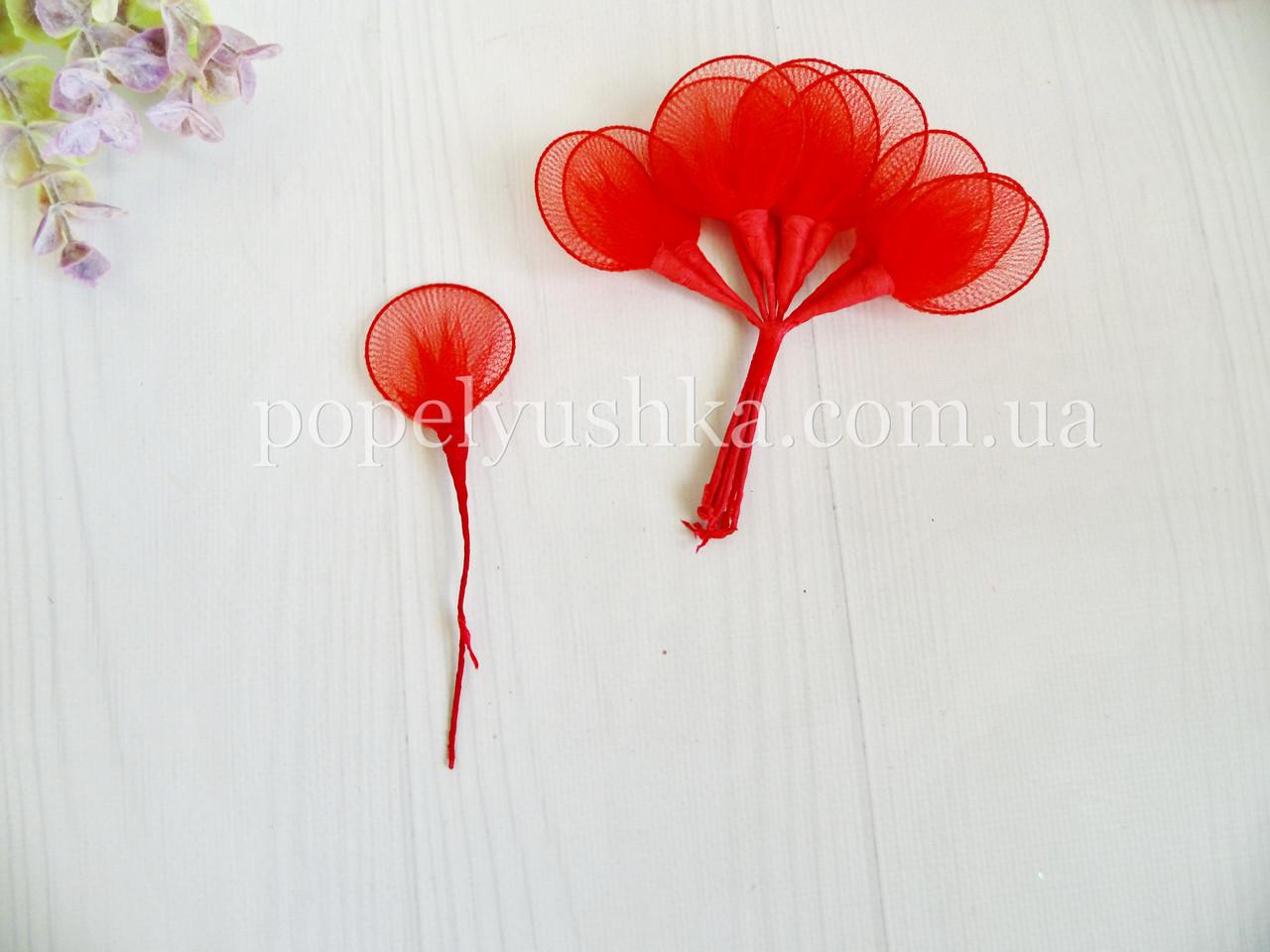 Пелюстка декоративна червона 4 см