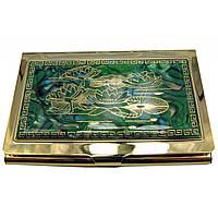 """Визитница """"Золото"""" (9,5х6,5х0,5 см) 19306 I"""