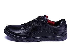 Мужские кожаные кроссовки  Е-series Wayfly Black  (реплика)