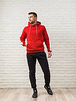 Мужской спортивный костюм красно-черный