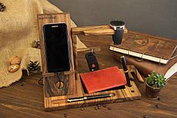 Настольный органайзер, держатель смартфона, часов, ключей, ручек, док станция для телефона