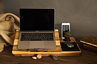 Охлаждающая персонализированная деревянная подставка под ноутбук макбук телефон планшет