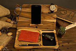Портативный настольный офисный органайзер подставка для телефона очков часов ключей ручек