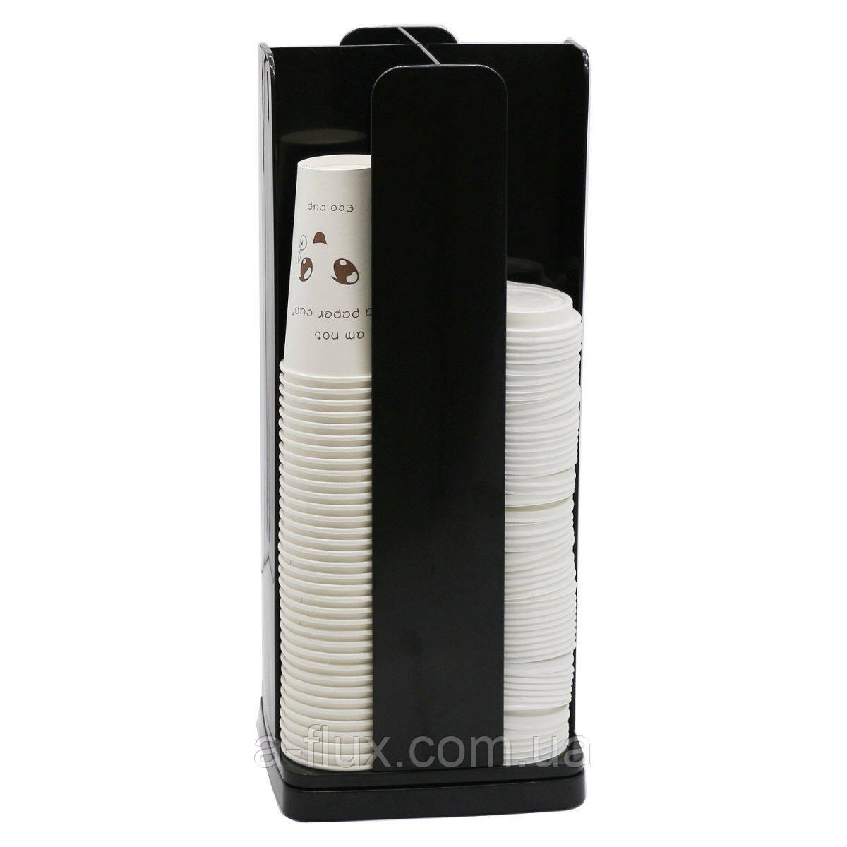 Вращающийся диспенсер для бумажных стаканов и крышек на 4 ячейки 86217