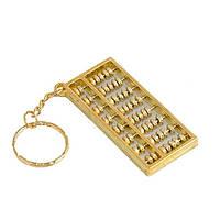"""Брелок """"Счеты-абакус"""" 6х2,7 см золотистый (1573FF)"""