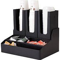 Диспенсер для бумажных стаканов и ингредиентов на 6 ячеек 86216