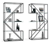 Дизайнерский двойной Стеллаж в стиле Лофт Loft