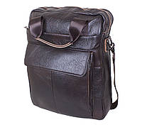 Мужская кожаная сумка через плече Италия 37х29х10 см 177162, фото 1
