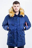 Зимняя мужская парка Olymp - Аляска N-3B, Slim Fit, Color: Navy, зимняя куртка аляска