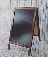 Штендер меловой А-образный коричневый