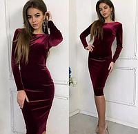 Платье женское из бархата Prestige