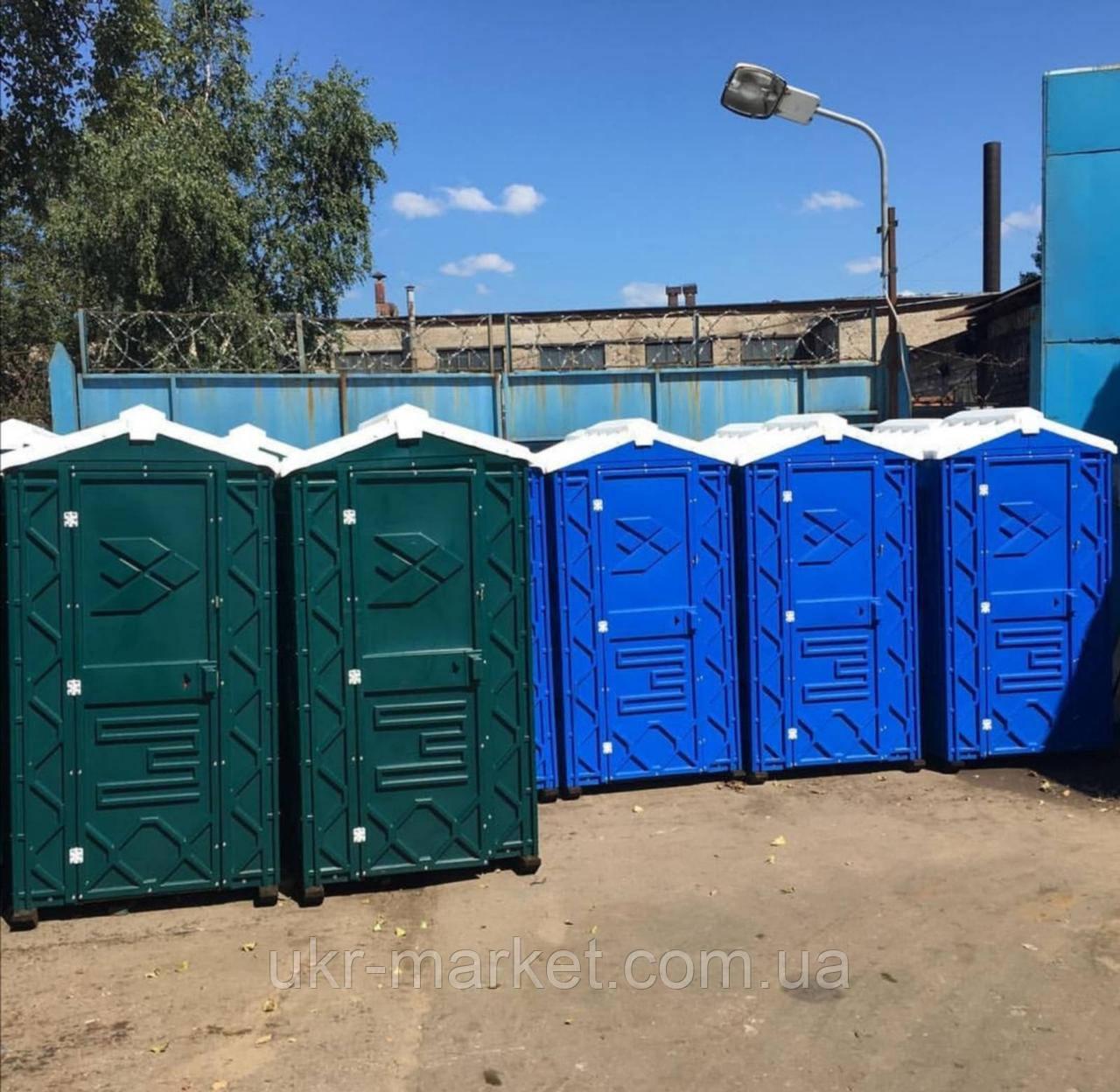Кабина туалет передвижной автономный зеленый